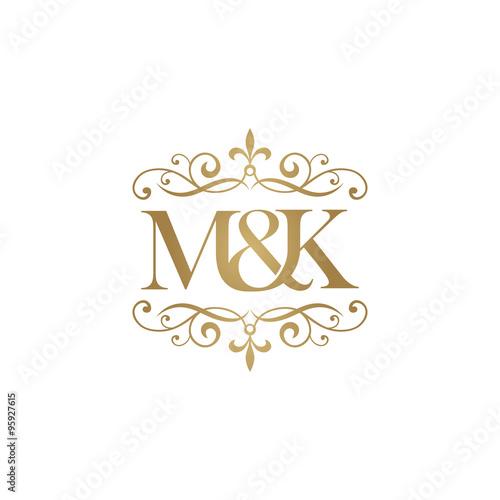 M&K Initial logo. Ornament amp...
