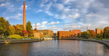 Tammerkoski embankments in Tampere