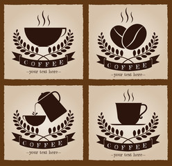 Set of retro coffee logo