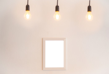 blank frame on a white background with blur lighting