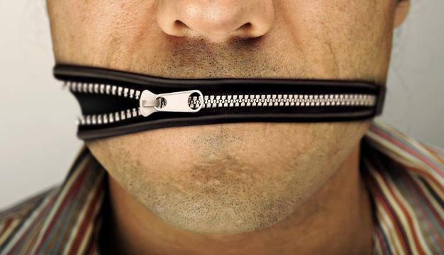zip man mouth