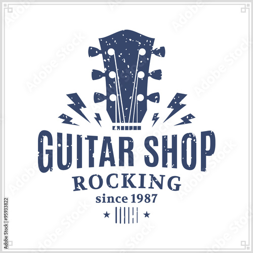 Guitar Shop Logo Stock Image And Royalty Free Vector Files On