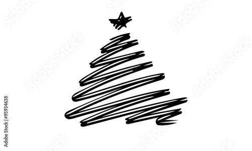 Albero Di Natale Bianco E Nero Immagini E Vettoriali Royalty Free