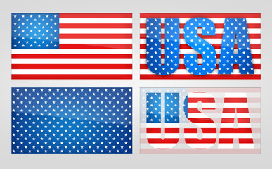 Four variants of the symbolism USA.