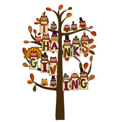 thanksgiving on a tree with leaves