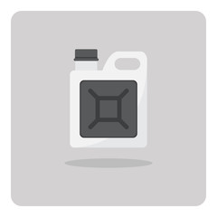 Vector of flat icon, Oil gallon on isolated background