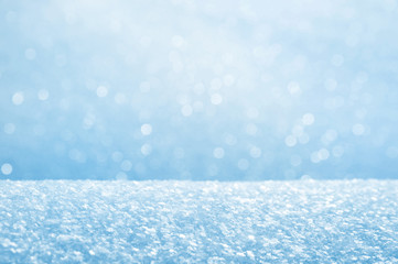 Winter bright background from fluffy brilliant snow