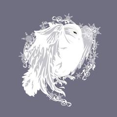 fairytale snowy owl