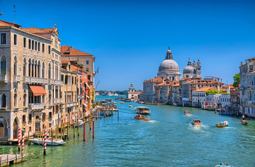 Gorgeous view of the Grand Canal and Basilica Santa Maria della
