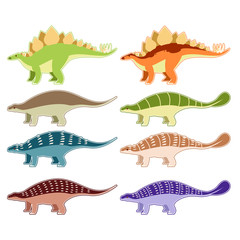 Set of armored dinosaurs