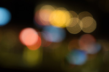 Colorful night city lights bokeh