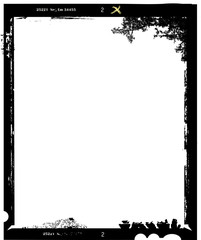 Wall Mural - large format film sheet photo frame,with free copy space,vector