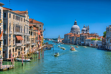 Wall Murals Channel Gorgeous view of the Grand Canal and Basilica Santa Maria della
