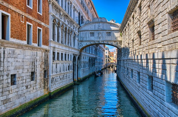 Venice - Bridge of Sighs, Ponte dei Sospiri, Italy, HDR