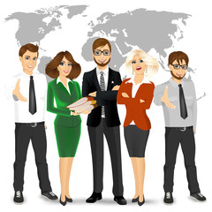 team of successful businesspeople