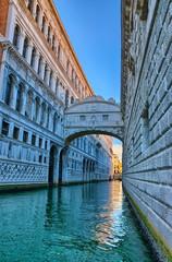 Venice - Bridge of Sighs, Ponte dei Sospiri, Italy, HDR