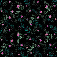 Seamless pattern with roses background
