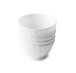 set of white plastic bowls