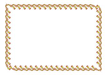 Green horizontal flower frame