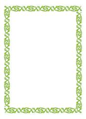 Green vertical flower frame