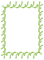 Green vertical flower frame