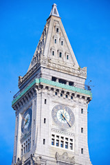 Custom House Tower in the center of Boston