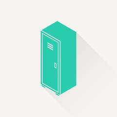 storage cabinet isometric 3d icon