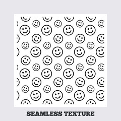 Smile lines seamless pattern.