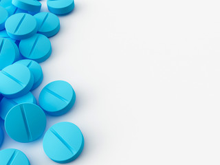some 3d maded pills on a white background