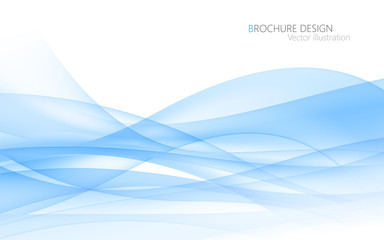 Abstract blue waves. Vector Illustration