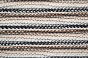 Close up texture of knitted scarf