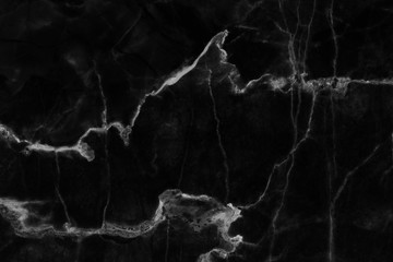black marble patterned texture background , abstract marble in natural patterned.
