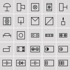 icons electrical symbols