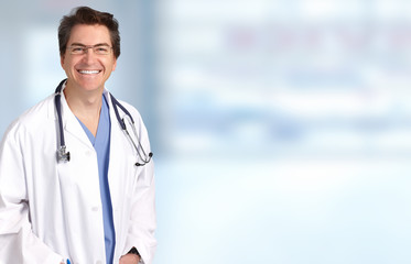 Smiling medical doctor man.