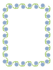 Beautiful frame with abstract floral ornament