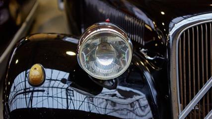 Detail of classic car.