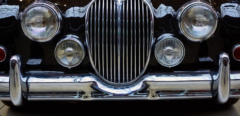 Detail of classic car.
