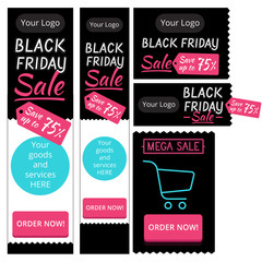 template elements for web banners Black Friday