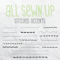 All Sewn Up Stitched Accents