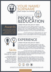 The Resume template business icon and background.