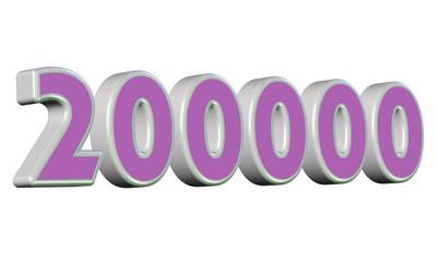 200000, ikiyüz bin sayısı