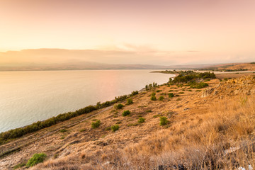 Wall Mural - Panorama of east side of The Galilee Sea