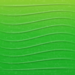 green vector abstract background with waves