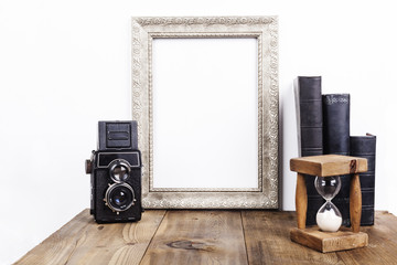 Silver Frame With Hourglass