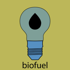 Biofuel icon flat design