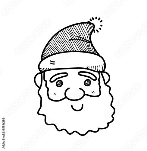 Cute santa drawing