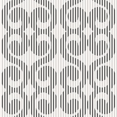 Abstract seamless geometric pattern - striped twirls