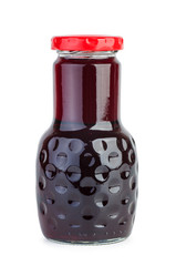 Glass bottle with Blackcurrant juice