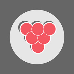 Red Caviar Flat Icon