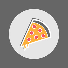 Pepperoni Pizza Flat Icon